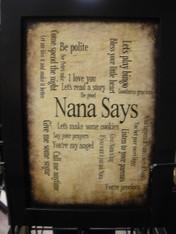 Nana Says Print