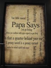 Papa Says Print
