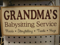 Grandma's Babysitting Service ~ Sign