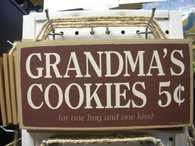 Grandma's Cookies ~ Wood Sign