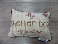 Pillow ~ My Shelter Dog Rescued Me