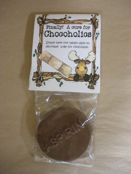 Finally! A cure for Chocoholics. A Chocolate Aspirin.