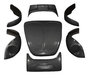 K201 1971-1972 VW Super Beetle Broad Eye 7 Piece Heavy Duty Baja Kit
