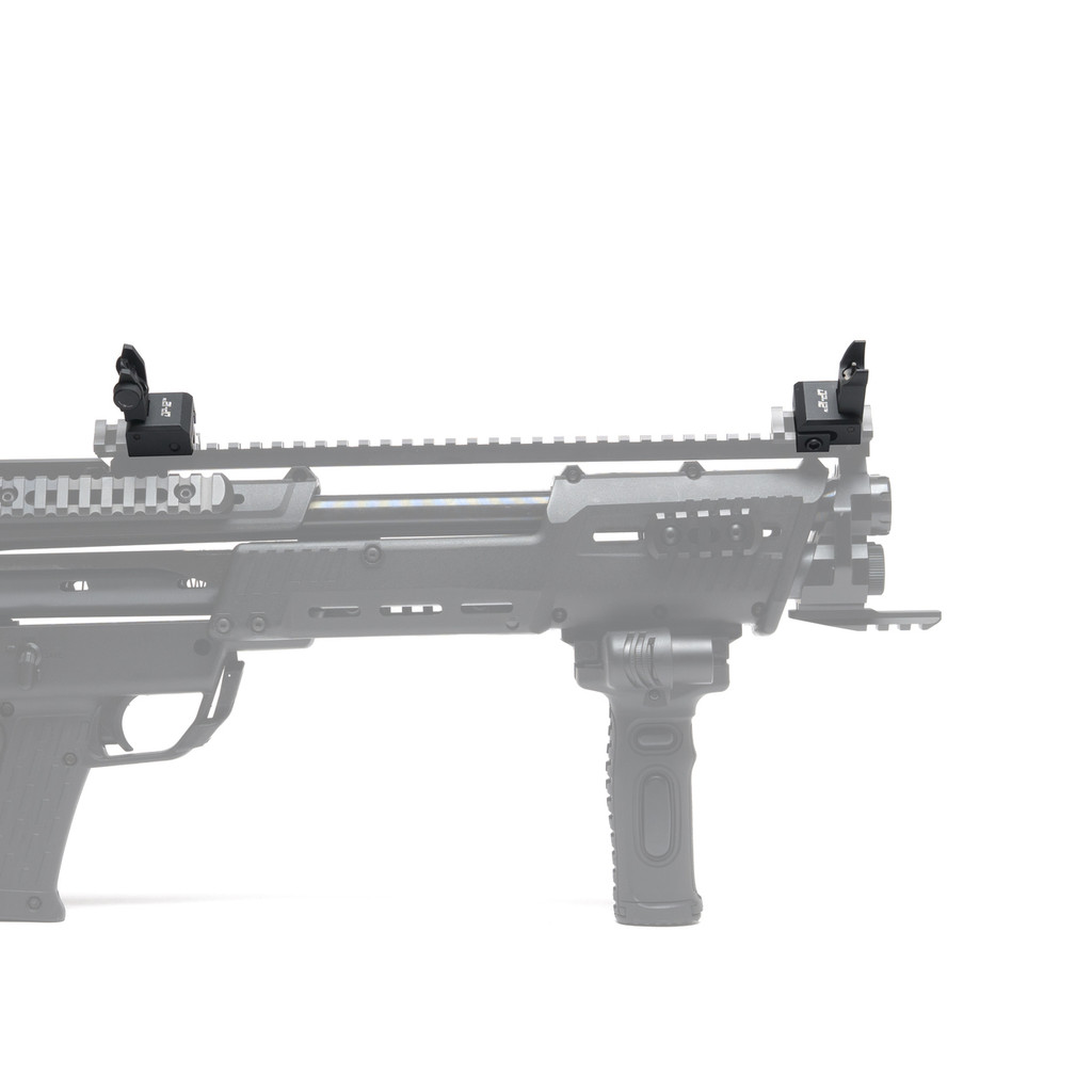 DP-12 Flip-Up Front & Rear Iron Sights