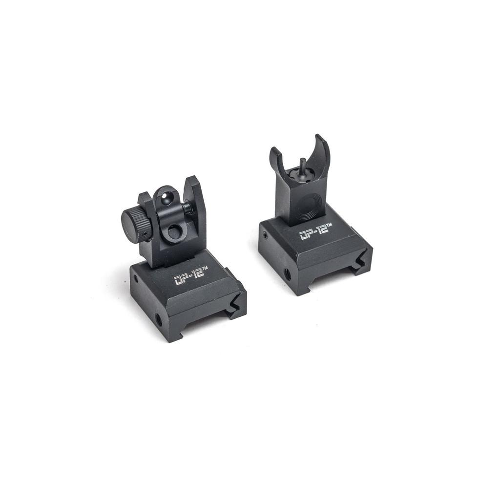 DP-12 Flip-Up Front & Rear Iron Sights