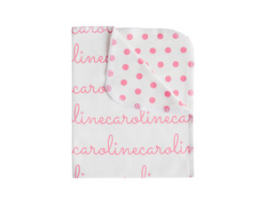 Personalized Double-Sided Blanket / Polka Dots
