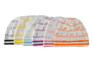Personalized Beanies with White Background - 0-12 months