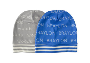 Personalized Beanies with Colored Background - 0-12 months