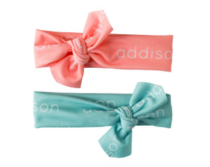Personalized Mint & Salmon Headwraps - Limited Edition
