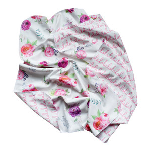 Personalized Double-Sided Blanket - Peony Collection