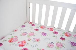 Peony Organic Crib Sheet