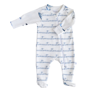 Personalized Footed One-Piece - whale collection