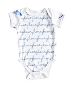 Personalized Organic Snapped Bodysuit - whale collection