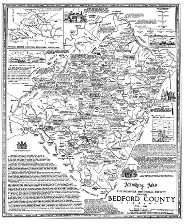 Map Bedford County Historical Society of Western Virginia
