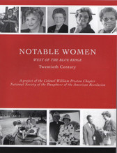 Notable Women West of the Blue Ridge, Twentieth Century