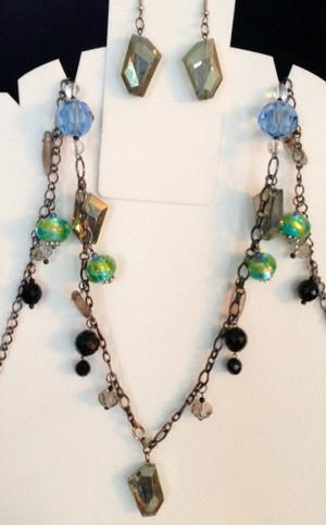 mixed media necklace set