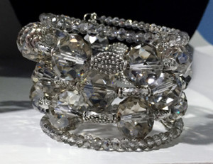 Clear crystal wrap bracelet
