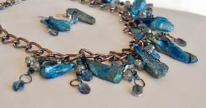 Blue Kyanite Statement Necklace Set