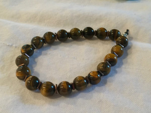 Polished Tiger Eye with copper spacers
