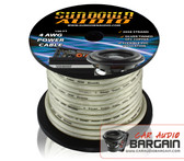 * New * Sundown Audio 4 AWG OFC Silver 100ft Power Cable Spool