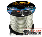 * New * Sundown Audio 8 AWG OFC Silver 250ft Power Cable Spool