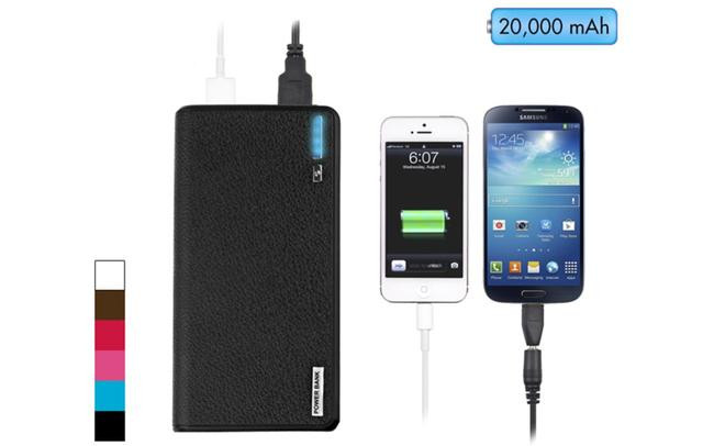 Wallet Style 20000mAh External Power Bank with Dual USB Ports by Wirelessoemshop