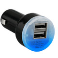 Black Universal Dual USB Vehicle Charger 2.1A