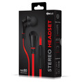 NoiseHush NX80 Stereo 3.5mm Headset with Mic  Red/Black