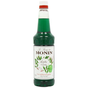 MONIN Premium Syrup Green Mint 1 Litre - Perfect for Cocktails and Chocolate Drinks!