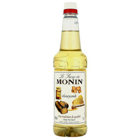 MONIN Premium Coffee Syrup Honeycomb 1 Litre - Great for Dessert Drinks and Milkshakes too!