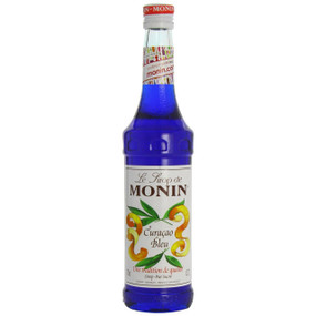 The amazing deep blue of MONIN Blue Curaçao syrup evokes the sea lapping the beautiful Curacao beaches and adds an exotic touch to cocktails and soda.