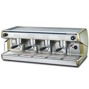 Superior Quality 2 Group Head Tall Coffee Machine with digitally controlled functions. Quarter turn steam knobs for ease.
