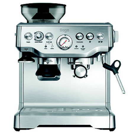 With conical burr grinder and dose control, this machine has 18 grind settings from course to fine for optimal espresso extraction.