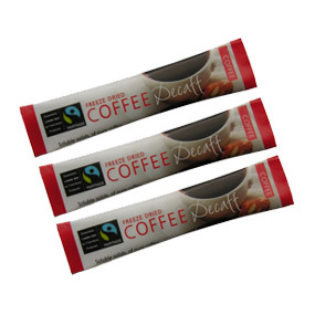 Fairtrade Decaf Coffee Sticks 250 per box
