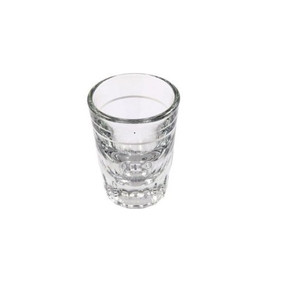 Solid based shot glass, lined at 1oz. Perfect for use with calibrating grinders.
