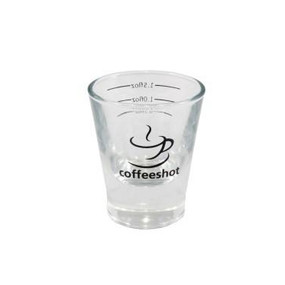2oz Espresso Shot Glass – Coffeeshot. A solid based Shot Glass with measurement lines.