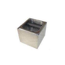 Free-standing knock box, ideal for smaller outlets. Removable stainless steel insert for emptying/cleaning.