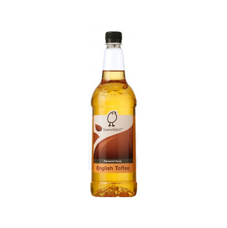 Sweetbird English Toffee Syrup 1 Litre - Makes a lovely Toffee Latte!