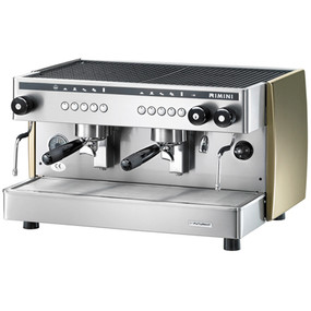 Fully Automatic Traditional 2 Group Head Espresso Coffee Machine. Twin steam arms, Electronic controls. The coffee dose is controlled by an electronic system that automatically regulates the volume of water used.