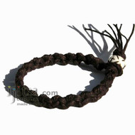 Dark Brown Hemp Chain Bracelet or Anklet