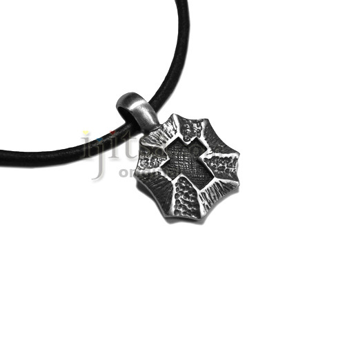 Adjustable 3mm leather necklaces with pewter pendants adjustable leather cord necklace pewter cross shield pendant aloadofball Image collections
