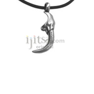 Adjustable leather cord pewter Talon pendant