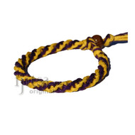 Purple and Yellow Round Hemp Bracelet or Anklet