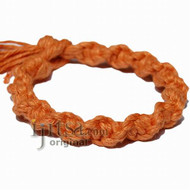 Pumpkin wide twisted hemp bracelet or anklet
