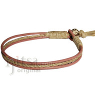 Dusty rose leather & hemp bracelet or anklet