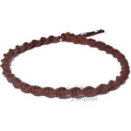 Light Brown Wide Twisted Hemp Choker Necklace