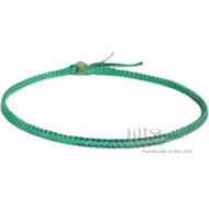 Green Rainbow Flat Hemp Surfer Necklace