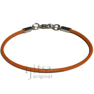 2mm marigold leather bracelet