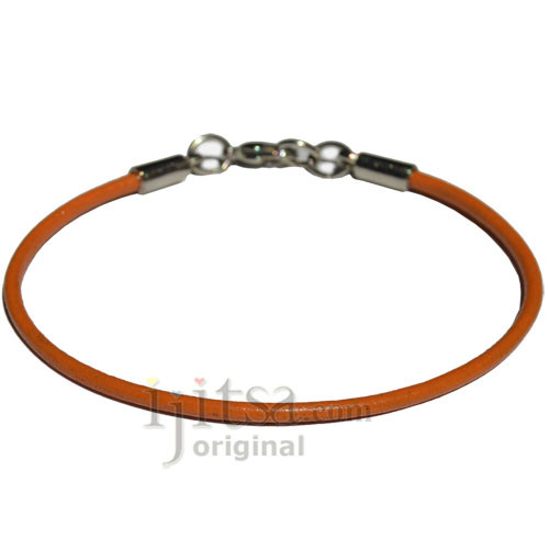 2mm marigold leather bracelet