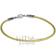 2mm maina leather bracelet or anklet, metal clasp